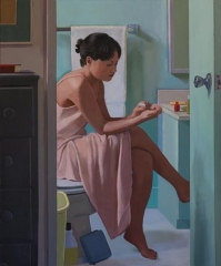 Woman Painting Her Nails
